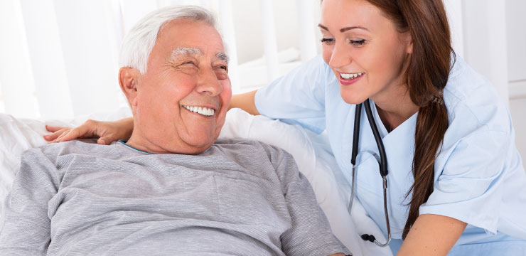 Smiling Patient and Nurse